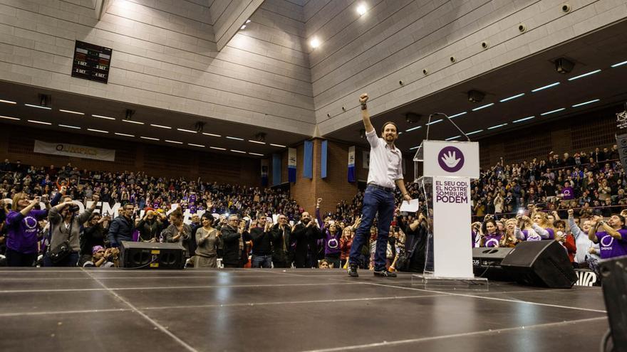 Acto Podemos Barcelona, Pablo Iglesias