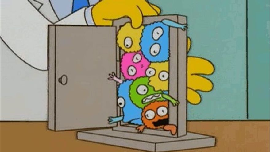 Virus del Sr. Burns en los Simpsons