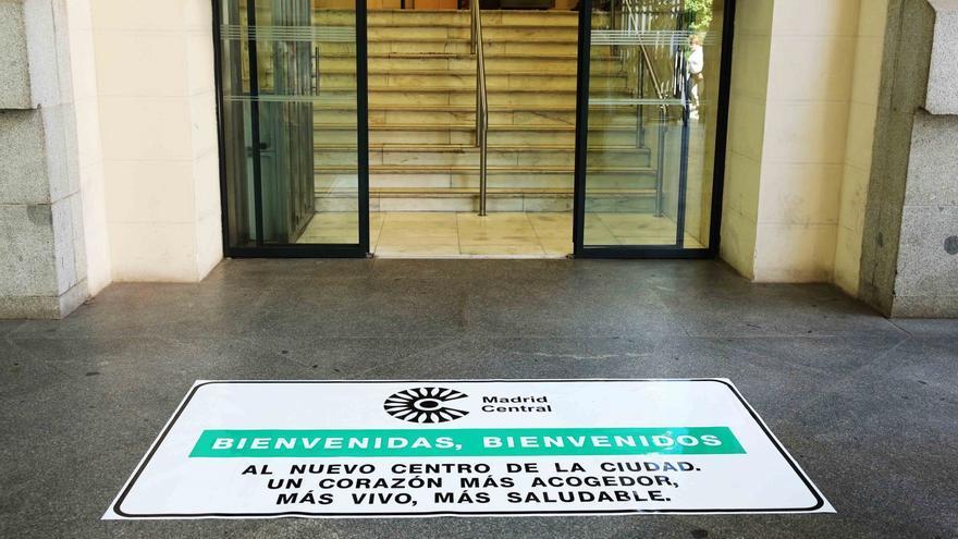 Publicidad de Madrid Central en el Ayuntamiento de Madrid.