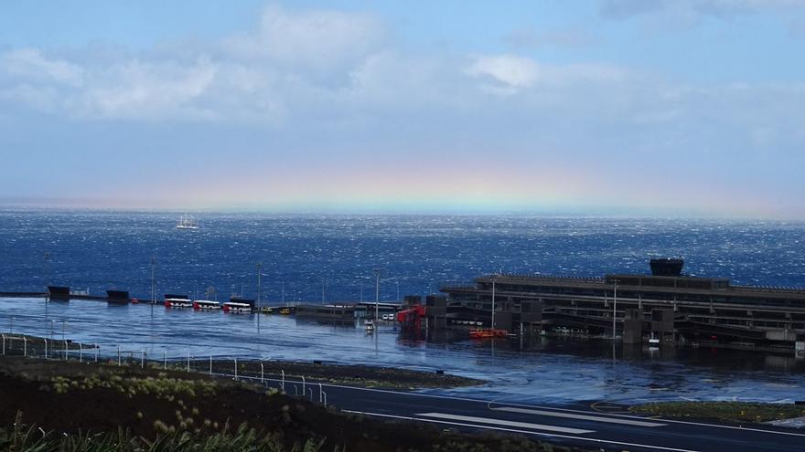 En la imagen, entorno del Aeropuerto de La Palma, en el municipio de Mazo. Imagen realizada el miércoles.
