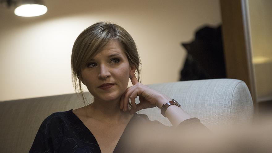 La escritora estadounidense Tara Westover durante la entrevista con eldiario.es.
