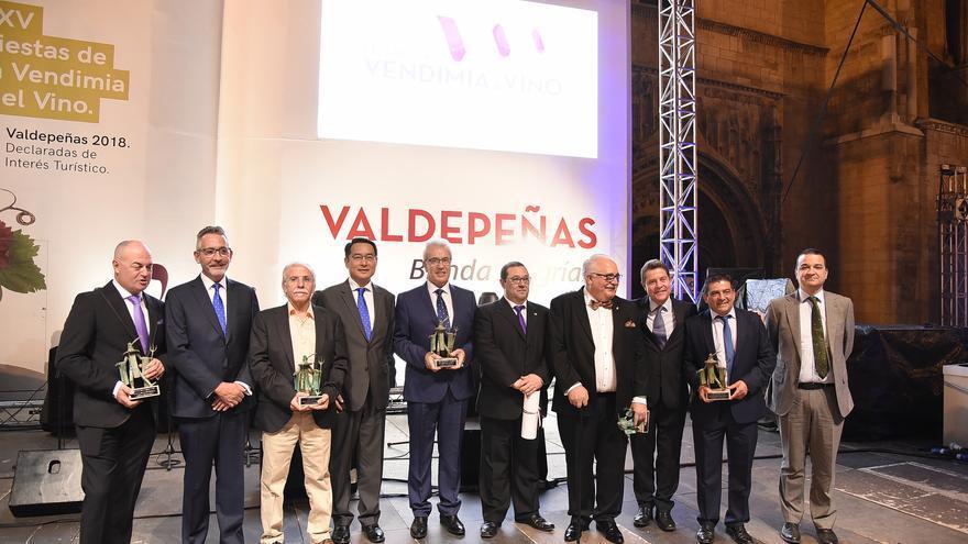 Homenajeados en las Fiestas de la Vendimia de Valdepeñas 2018