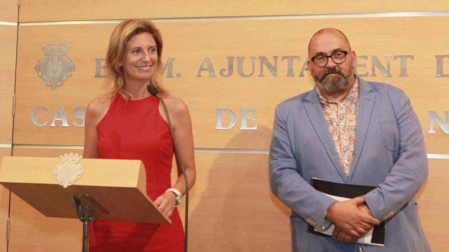 La alcaldesa de Castellón, Amparo Marco, y el vicealcalde, Enric Nomdedéu.