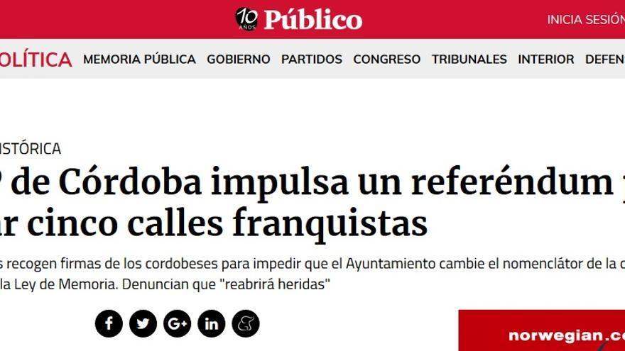 PP calles franquistas referendum