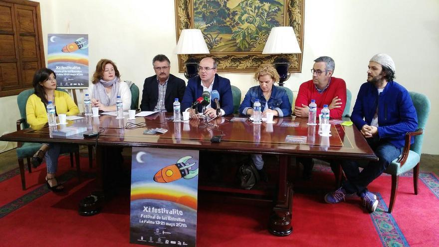 Presentación del XI Festivalito-Festival de Cine de las Estrellas La Palma, este martes, en la Casa Principal de Salazar.