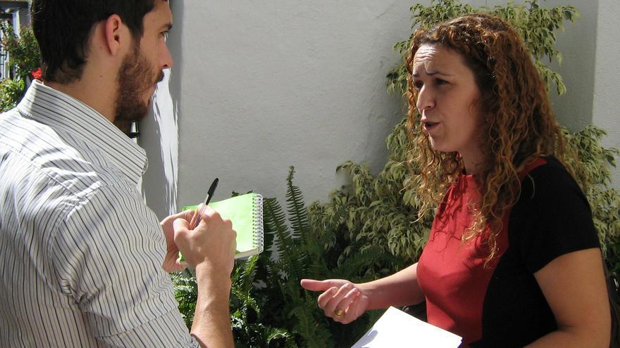 La concejal Encarnación Cortés, el martes por la mañana