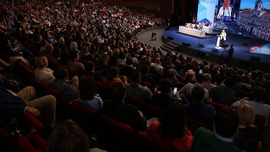 Cristina Cifuentes, durante su discurso en el 16 Congreso del PP de Madrid