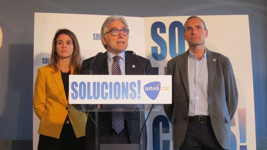 Sánchez Llibre (Unió) defiende que el próximo Gobierno retire la querella contra Mas
