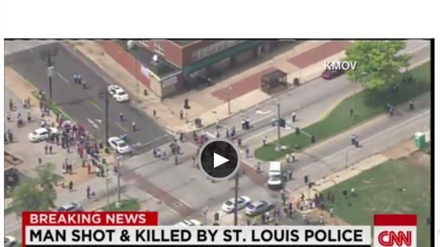 Imagen de la web de la CNN, que informa del suceso
