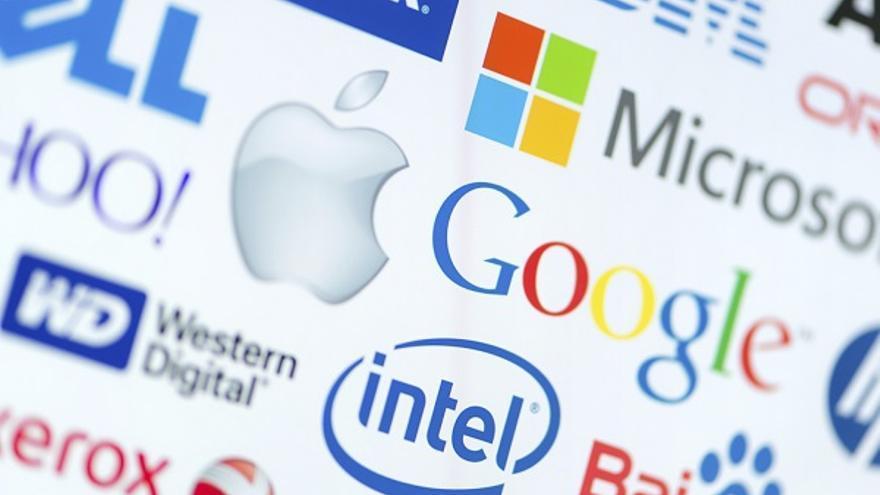 Algunos de los logos de las principales empresas tecnológicas