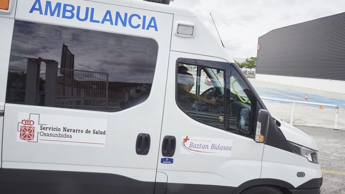 Una ambulancia del Servicio Navarro de Salud.