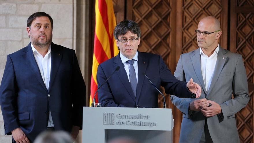 Puigdemont, Junqueras y Romeva