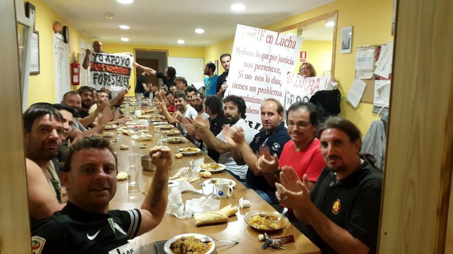Encierro y asamblea de trabajadores de la base BRIF de La Iglesuela (Toledo)