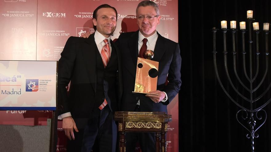 La Comunidad Judía de Madrid otorga a Gallardón el Premio Or Janucá por su compromiso contra el antisemitismo
