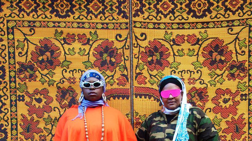 Muneera Rashida y Sukina Abdul Noor, componentes del dúo de hip hop Poetic Pilgrimage.