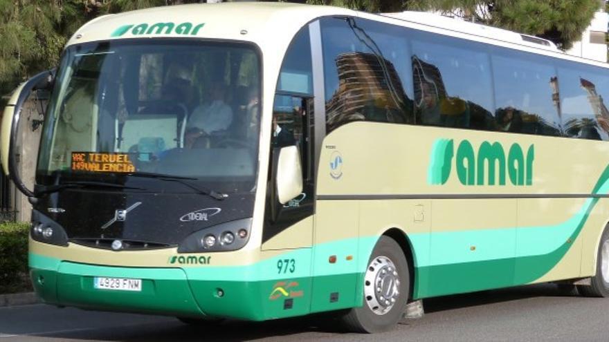 Autobús SAMAR que cubre la localidad de Molina de Aragón / Raquel Gamo