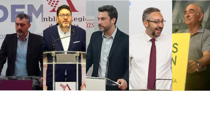 Los representantes de los partidos políticos en la Región de Murcia