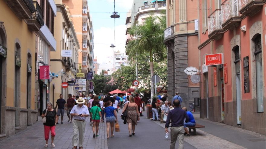 La calle Castillo, en Santa Cruz de Tenerife