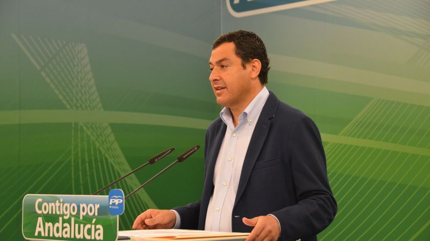 Juan Manuel Moreno, presidente del PP andaluz.
