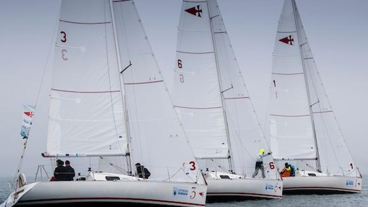 Imagen de la competición celebrada en aguas gallegas durante los últimos días.