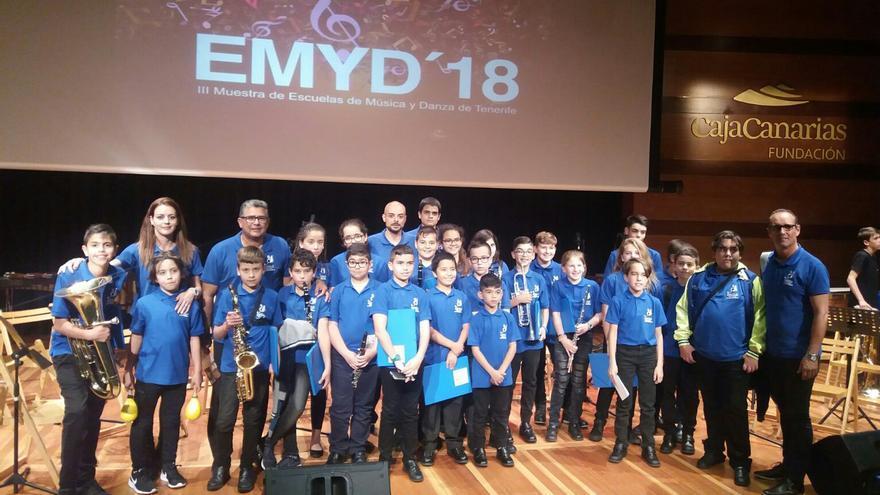 Alumnos y profesores de la Academia Musical de CajaCanarias.