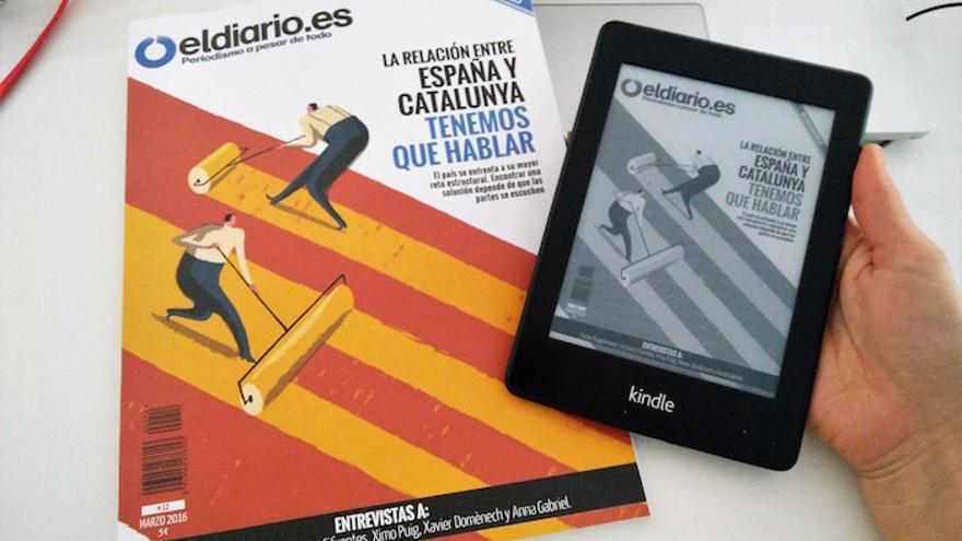 La revista en papel y en formato Kindle