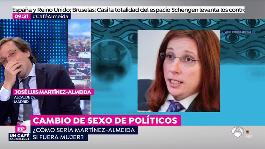 Almeida en 'Espejo Público' al ver su cambio de sexo