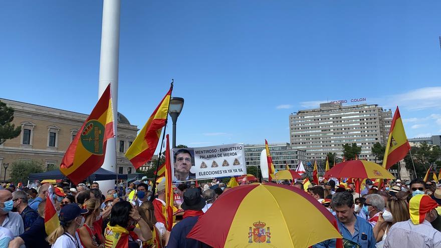 Manifestación en Colón contra los indultos a los líderes del 'procés'