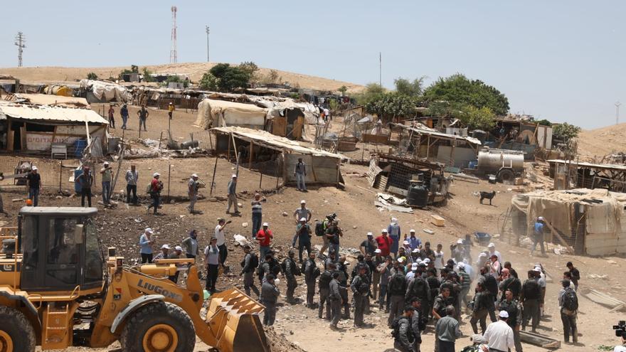 Demolición de la comunidad beduina palestina de Khan al Ahmar, en Cisjordania