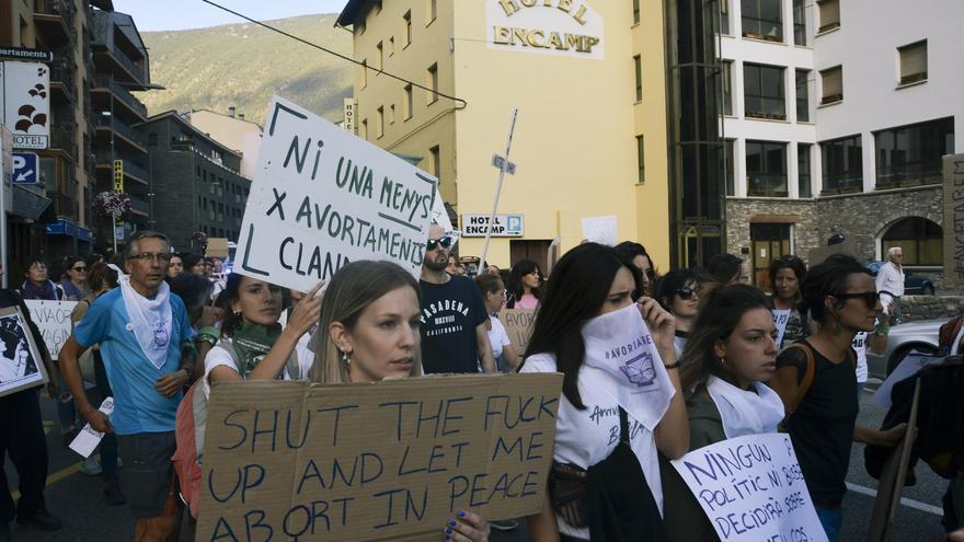 Manifestación a favor de la despenalización del aborto en Andorra, celebrada el pasado 28 de septiembre.
