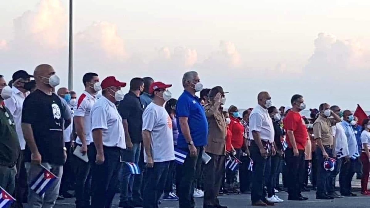 Díaz Canel encabezó un acto junto a Raúl Castro