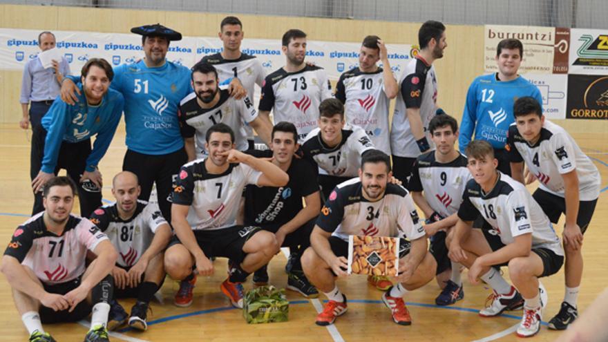 Jugadores del Córdoba Balonmano en la actual temporada.