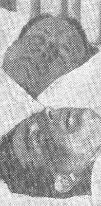 Arriba Luis Rico Serrano, herido en la pierna y abajo Ángel Montesinos, que resultaría muerto. La Libertad 09/03/1934. Foto de Alfonso.