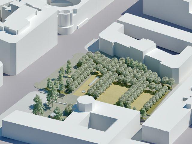 Infografía del proyecto de los Jardines del Arquitecto Ribera