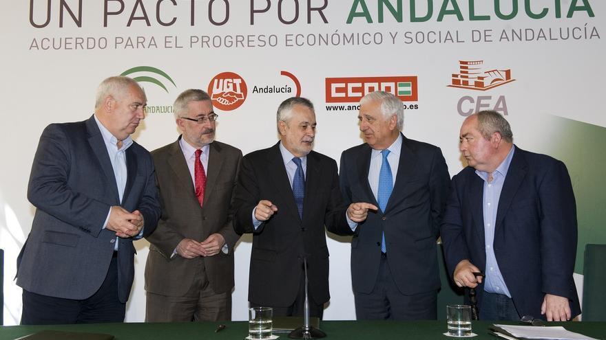 Junta, sindicatos y CEA firman el 'Acuerdo por el Empleo', que marcará las prioridades de los presupuestos de 2013