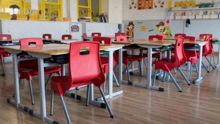 Una aula vacía en un colegio.