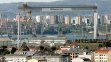 Instalaciones de Navantia en la ría de Ferrol
