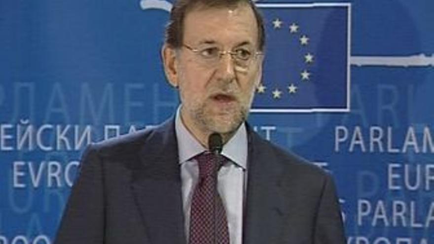 Mariano Rajoy en el Parlamento Europeo