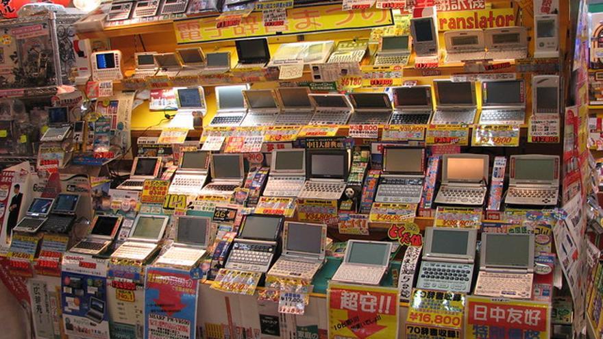 Traductores japonés-inglés en Akihabara, Tokio