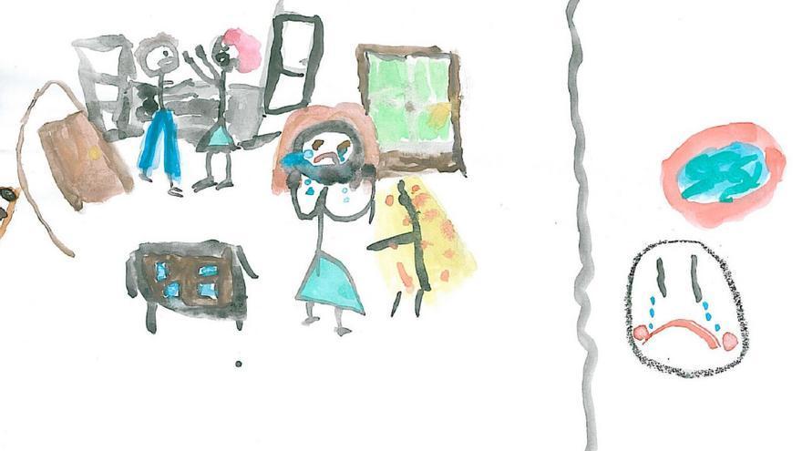Dibujo realizado en tiempo de espera por una niña de 11 años.