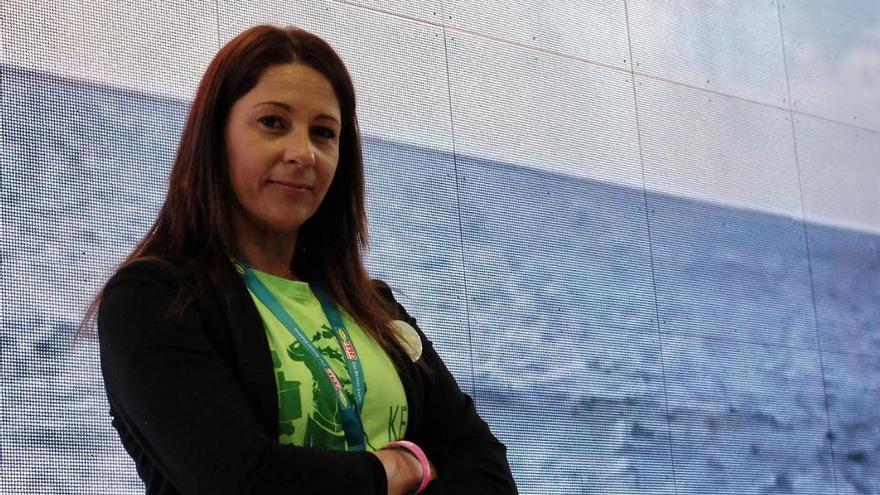 Myriam Barros acude a la Feria de Turismo de Berlín en nombre de la asociación Las Kellys para recoger un premio.