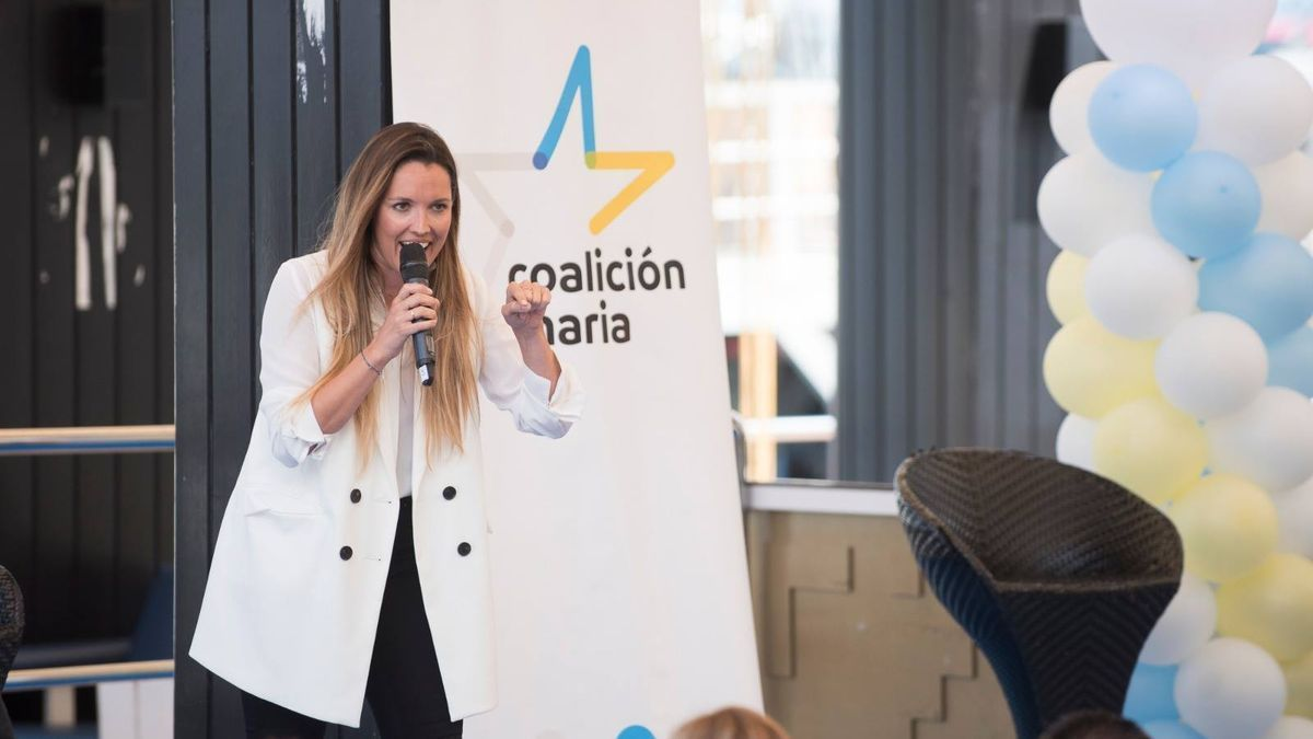 María Fernández, portavoz de Coalición Canaria