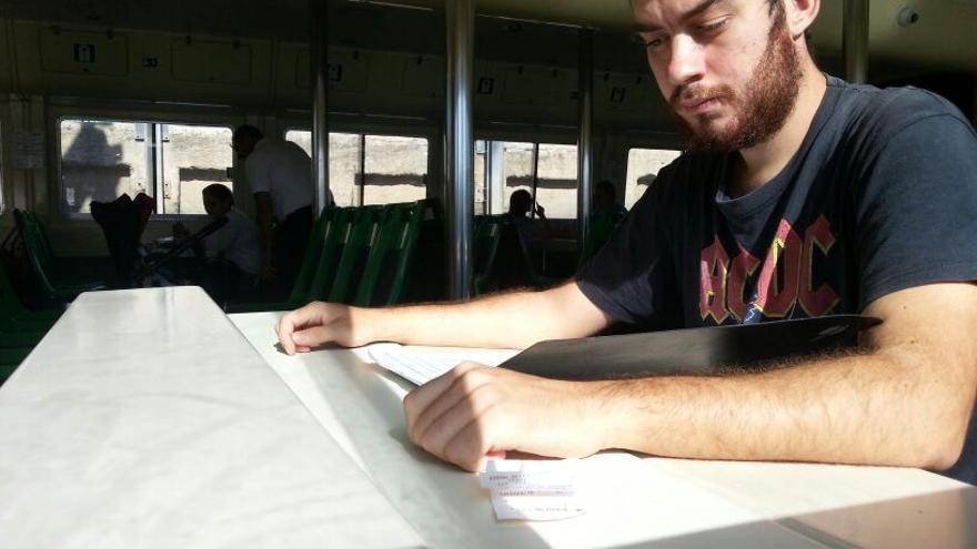 Álvaro Alonso, un joven de 23 años que se ha quedado este curso sin plaza en un Ciclo Superior de FP.