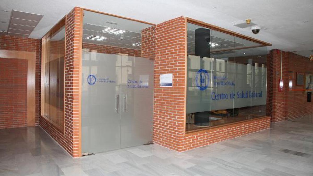 El centro de salud laboral de la Universidad Carlos III en Getafe, donde se realizaron parte de las grabaciones.