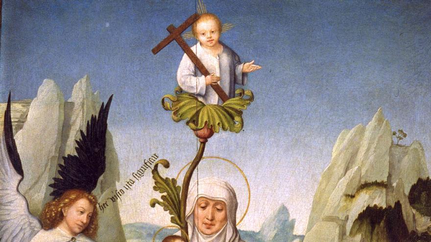 Maestro Johannes (Primer tercio del siglo XVI) 'La visión de la descendencia de santa Emerencia en Monte Carmelo'