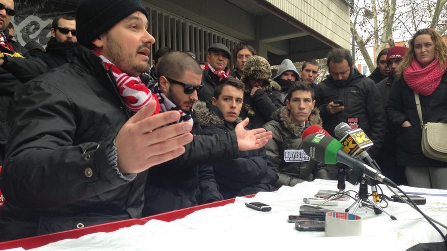 Rueda de prensa de la peña futbolística Bukaneros este miércoles 27 de febrero (Foto: Olga Rodríguez)