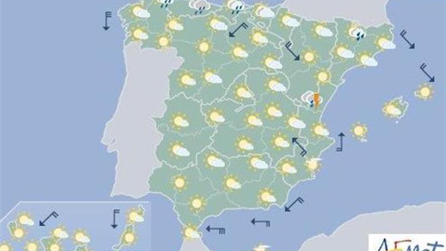 Mañana sólo el Mediterráneo y el norte se salvan de mucho calor
