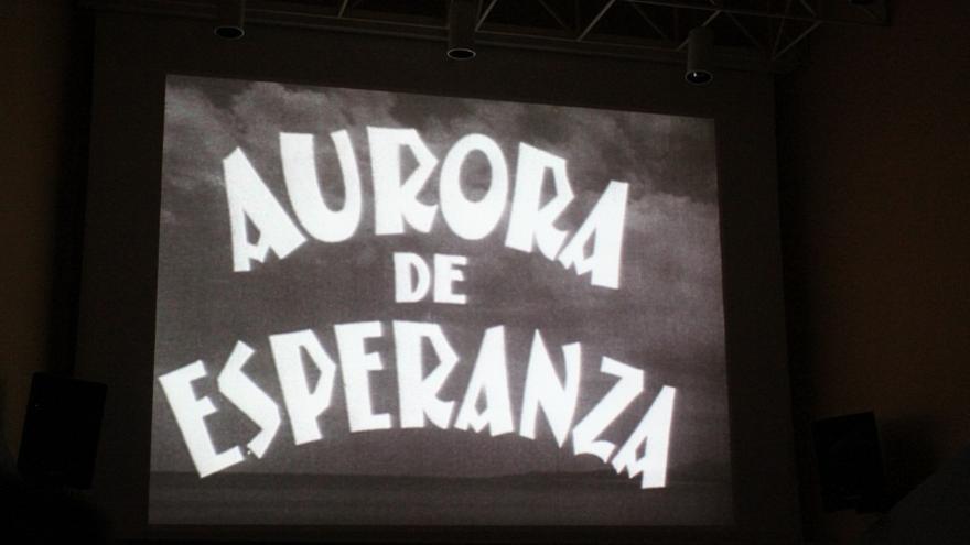Proyección de la película 'Aurora de Esperanza' / Foto: AGCEX