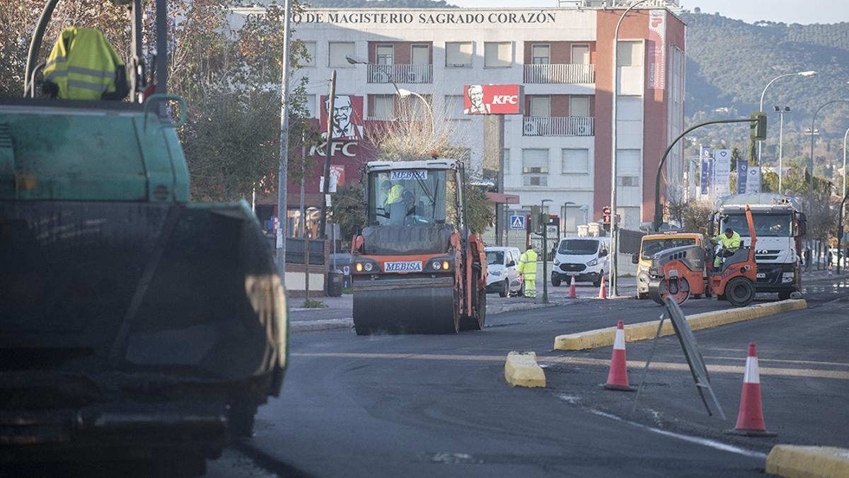 Imagen de archivo de obras en la avenida de El Brillante.