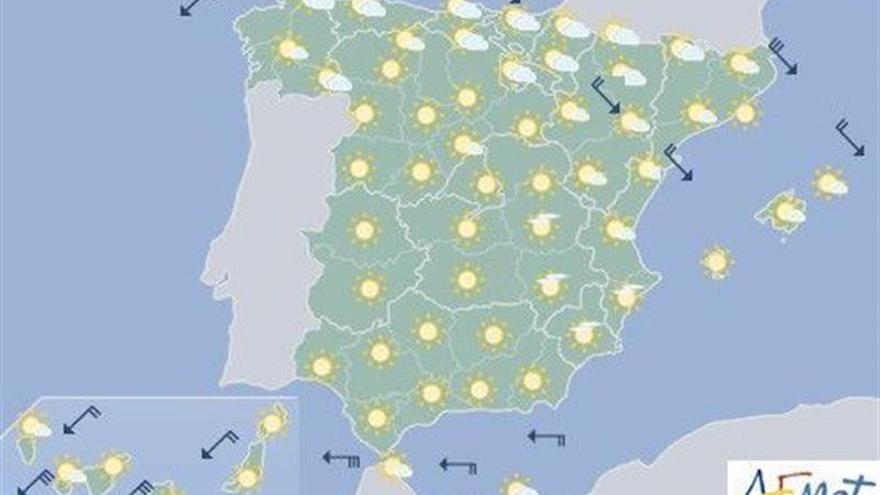 Las temperaturas siguen subiendo hoy, excepto en el Cantábrico